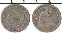 Изображение Монеты США 1/4 доллара 1858 Серебро VF Свобода