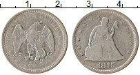 Изображение Монеты США 20 центов 1875 Серебро VF Свобода