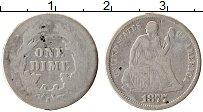 Изображение Монеты США 1 дайм 1877 Серебро VF