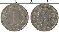 Изображение Монеты США 3 цента 1873 Медно-никель VF