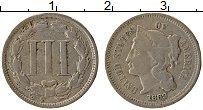 Изображение Монеты США 3 цента 1869 Медно-никель XF Свобода