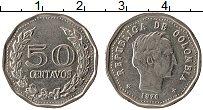 Изображение Монеты Колумбия 50 сентаво 1970 Медно-никель XF Симон Боливар