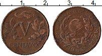 Изображение Монеты Колумбия 5 сентаво 1968 Бронза VF