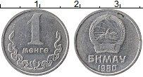 Изображение Монеты Монголия 1 мунгу 1980 Алюминий UNC-