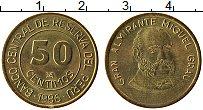 Изображение Монеты Перу 50 сентим 1986 Латунь UNC-