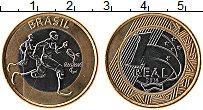 Изображение Монеты Бразилия 1 реал 2015 Биметалл UNC
