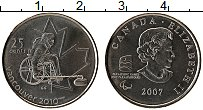 Изображение Монеты Канада 25 центов 2007 Медно-никель UNC Елизавета II. Парали