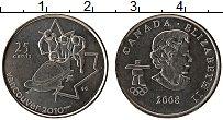 Изображение Монеты Канада 25 центов 2008 Медно-никель UNC Олимпиада в Ванкувер