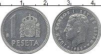 Изображение Монеты Испания 1 песета 1985 Алюминий UNC-