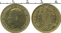 Изображение Монеты Испания 1 песета 1975 Латунь XF