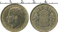 Изображение Монеты Испания 100 песет 1984 Латунь UNC- Хуан Карлос I