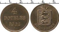 Изображение Монеты Гернси 4 дубля 1902 Бронза XF Н