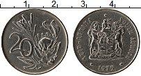 Изображение Монеты ЮАР 20 центов 1975 Медно-никель XF