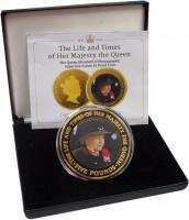 Изображение Подарочные монеты Тристан-да-Кунья 5 фунтов 2016 Медь UNC 90 лет со дня рожден