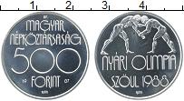 Изображение Монеты Венгрия 500 форинтов 1987 Серебро UNC