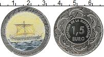 Изображение Монеты Испания 1,5 евро 2018 Медно-никель UNC Цифровая печать. Ист