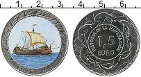 Изображение Монеты Испания 1,5 евро 2019 Медно-никель UNC Цифровая печать. Ист
