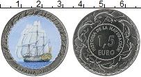 Изображение Монеты Испания 1,5 евро 2018 Медно-никель UNC