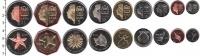 Изображение Наборы монет Саба Саба 2012 2012  UNC- В наборе 9 монет ном