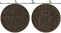 Изображение Монеты Пруссия 1 пфенниг 1870 Медь XF А