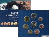 Изображение Подарочные монеты Кипр Евронабор 2008 2008  UNC Евронабор 2008. В на