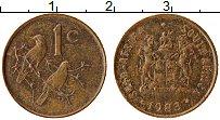Изображение Монеты ЮАР 1 цент 1983 Бронза XF