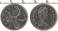 Изображение Монеты Канада 25 центов 1984 Медно-никель XF Елизавета II.