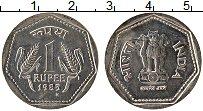 Изображение Монеты Индия 1 рупия 1985 Медно-никель UNC-