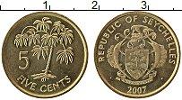 Изображение Монеты Сейшелы 5 центов 2007 Латунь UNC-