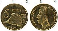 Продать Монеты Остров Пасхи 5 песо 2007 Медно-никель