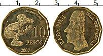 Изображение Монеты Остров Пасхи 10 песо 2007 Латунь UNC-