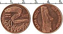 Продать Монеты Остров Пасхи 50 песо 2007 Медь