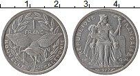 Изображение Монеты Новая Каледония 1 франк 1977 Алюминий XF