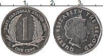 Изображение Монеты Карибы 1 цент 2008 Алюминий UNC- Елизавета II.