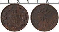 Изображение Монеты Финляндия 10 пенни 1876 Медь VF