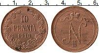 Изображение Монеты Финляндия 10 пенни 1910 Медь XF