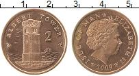 Изображение Монеты Остров Мэн 2 пенса 2009 Медь UNC-