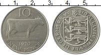 Изображение Монеты Гернси 10 пенсов 1970 Медно-никель XF