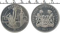 Изображение Монеты Сьерра-Леоне 1 доллар 2012 Медно-никель UNC Олимпиада 2012. Баск