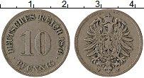 Изображение Монеты Германия 10 пфеннигов 1876 Медно-никель XF F