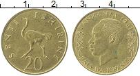 Изображение Монеты Танзания 20 сенти 1981 Латунь XF Страус