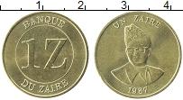 Изображение Монеты Заир 1 заир 1987 Латунь XF