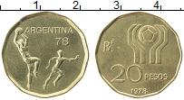 Изображение Монеты Аргентина 20 песо 1978 Латунь XF