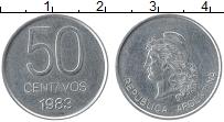 Изображение Монеты Аргентина 50 сентаво 1983 Алюминий XF Республика
