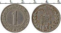 Изображение Монеты Алжир 1 динар 1972 Медно-никель VF ФАО