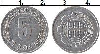Изображение Монеты Алжир 5 сантим 1985 Алюминий XF ФАО