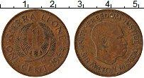 Изображение Монеты Сьерра-Леоне 1 цент 1964 Медь VF Сэр Милтон