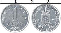 Изображение Монеты Антильские острова 1 цент 1983 Алюминий UNC- Герб