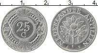 Изображение Монеты Антильские острова 25 центов 2009 Медно-никель UNC- Цветы