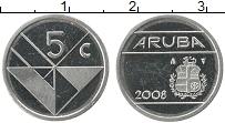 Изображение Монеты Аруба 5 центов 2008 Медно-никель UNC-